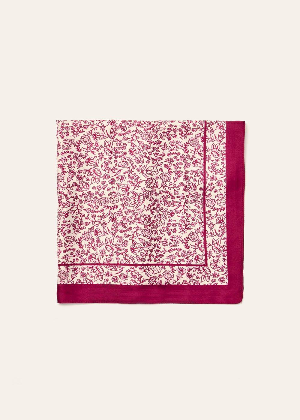 Maxi foulard Sarah stampa fiori - Anemone Fantasia - Donna