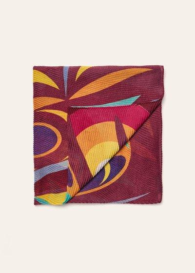 Sciarpa Shakyra plisse stampa mix