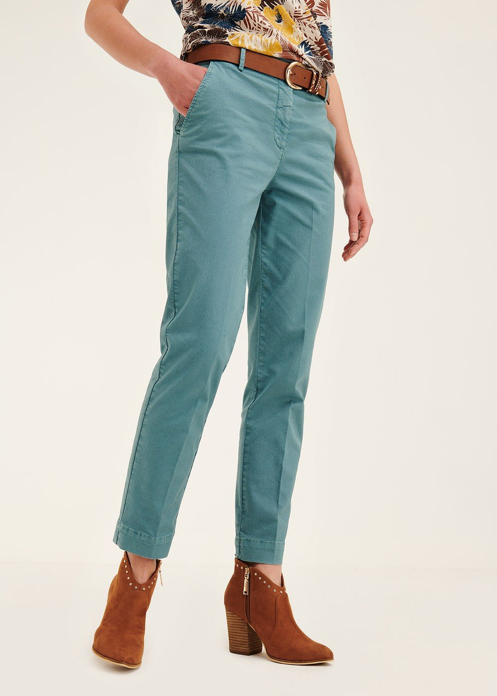 Alice cotton trousers - Sasso - Woman