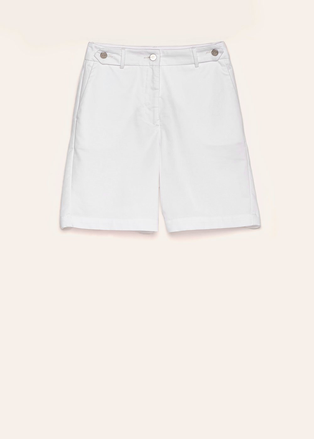 Byron cotton Bermuda shorts - White - Woman