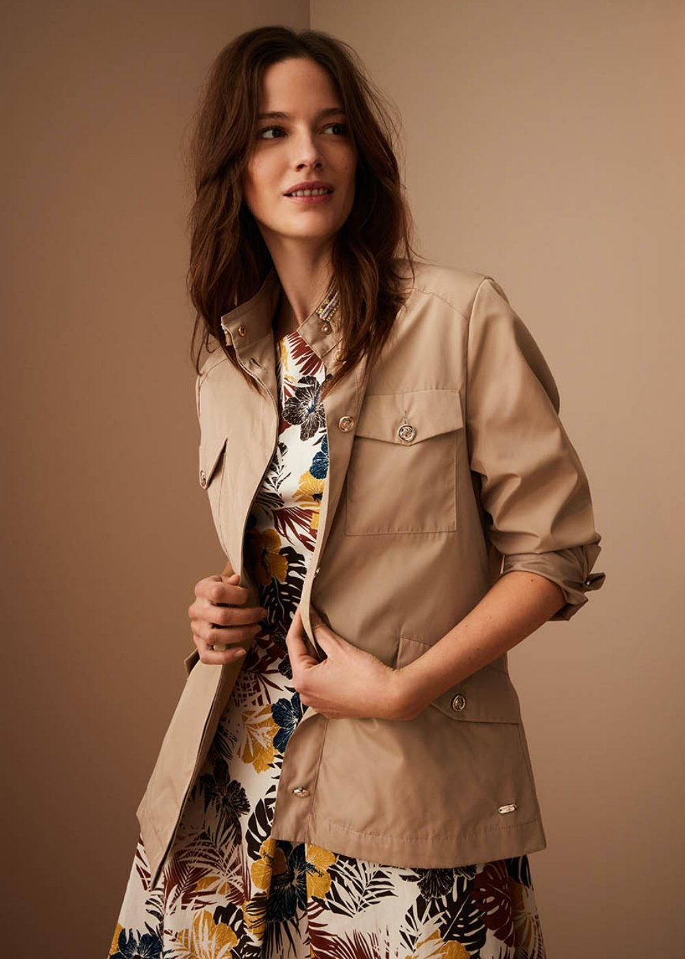 Gareth jacket with trimmings - Doeskin - Woman