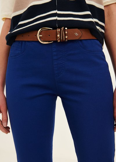 Chili faux-leather belt with detail of studs