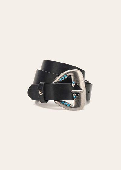 Cintura Cherys con micro borchie turchesi