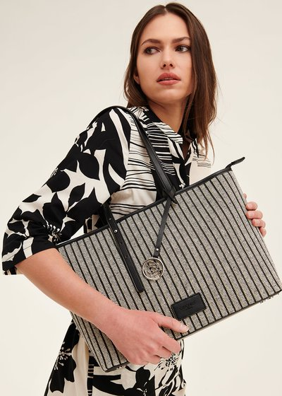 Betsy striped shopping bag
