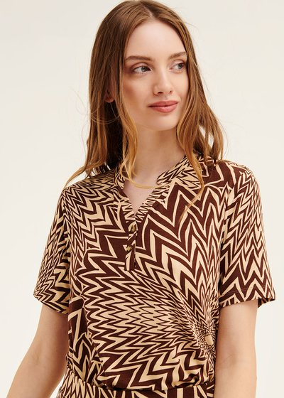 Sidony t-shirt with optical pattern
