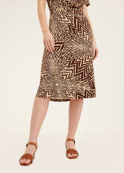 Gaby skirt with optical pattern