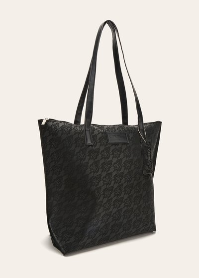Beatrice shopping bag with rubberized effect