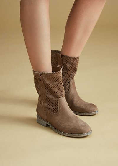Sunny boots with openwork