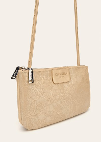 Tonga floral print clutch bag with shoulder strap