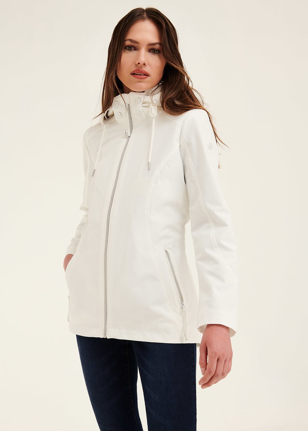 George jacket in technical fabric - White - Woman