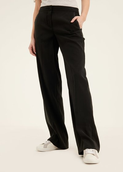 Paride peach skin effect trousers