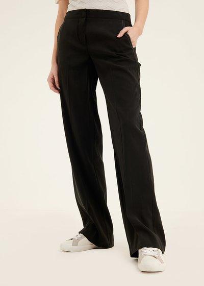 Paride peach skin effect trousers
