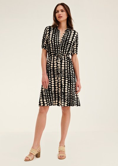 Arold dress with polka-dot pattern