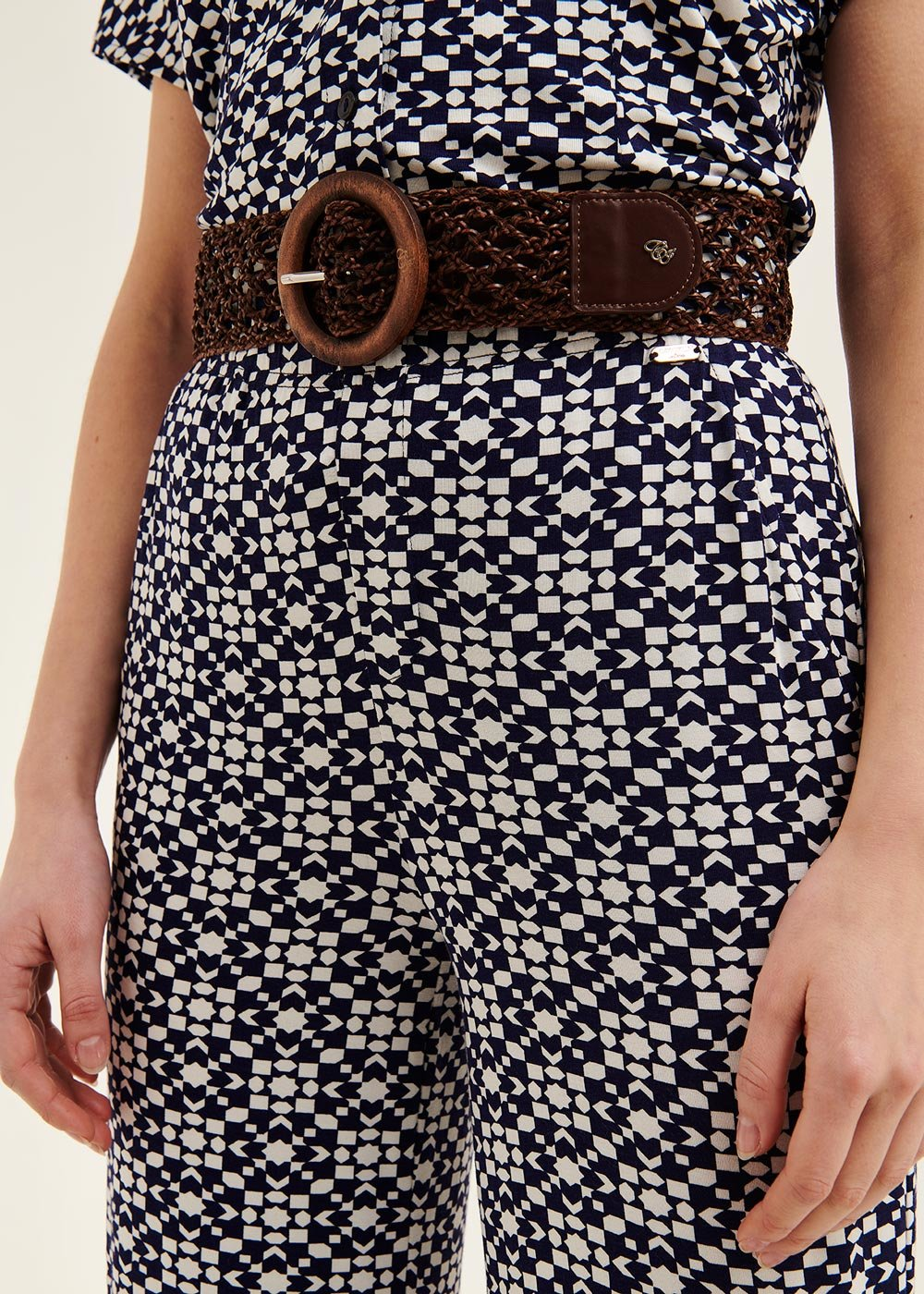 Candys woven belt - Cocoa - Woman