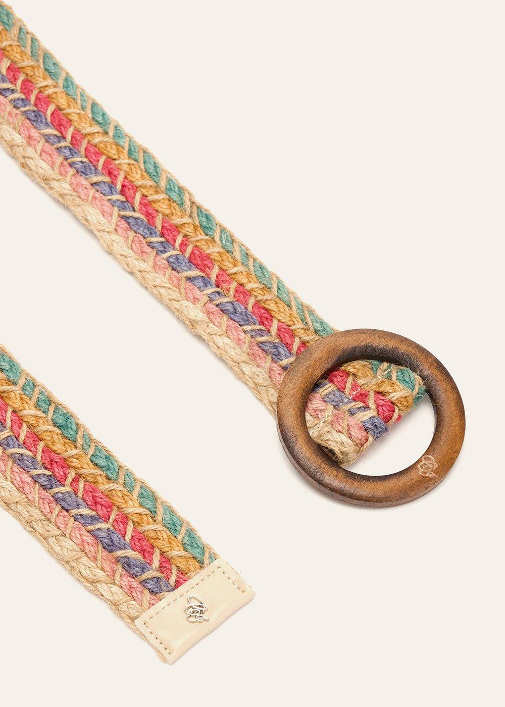 Cintura Casy intrecciata in lino - Safari - Donna