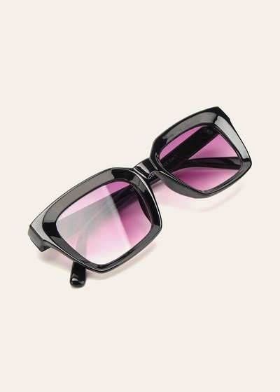 Sunglasses with transparent frame