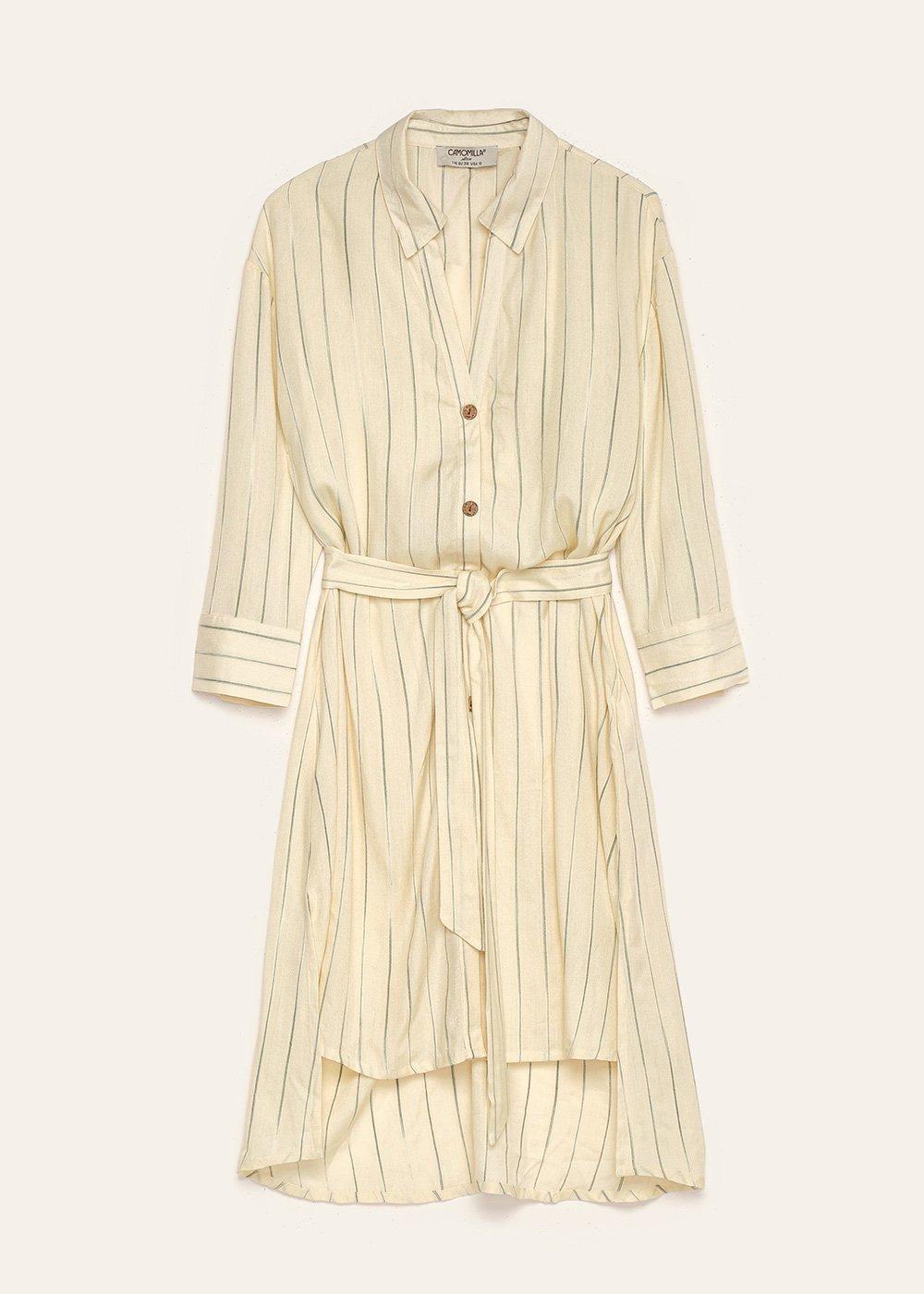 Camicia Cliz con righe silver - White / Grey / Stripes - Donna