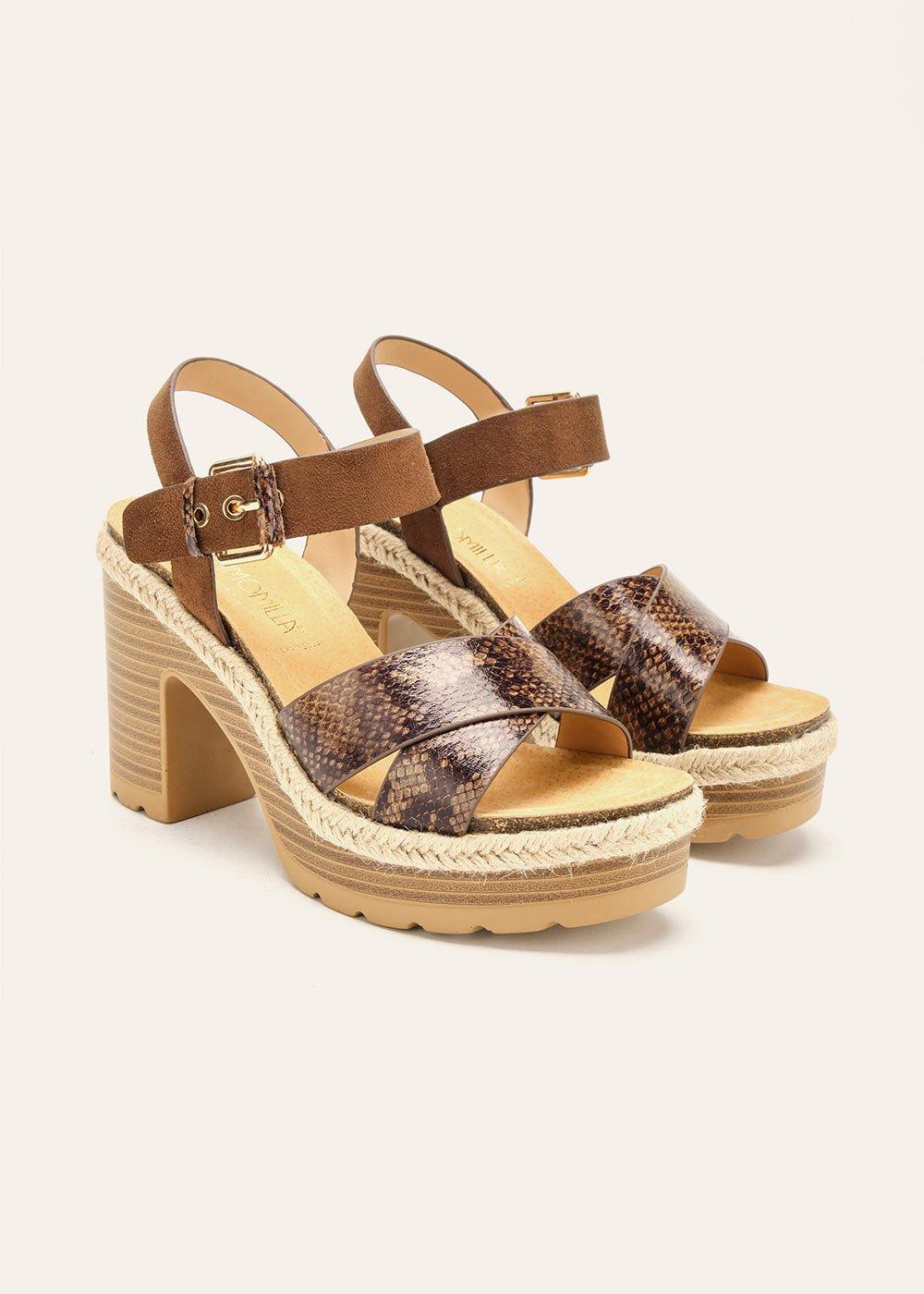 Steila wedge sandal - Terra Animalier - Woman