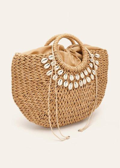 Shopping bag Betzie con conchiglie