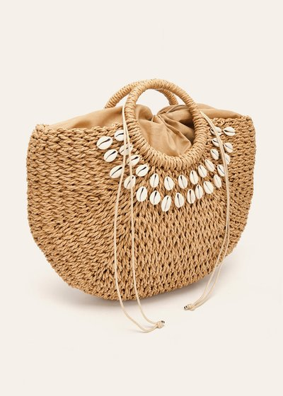Betzie shopping bag with shells