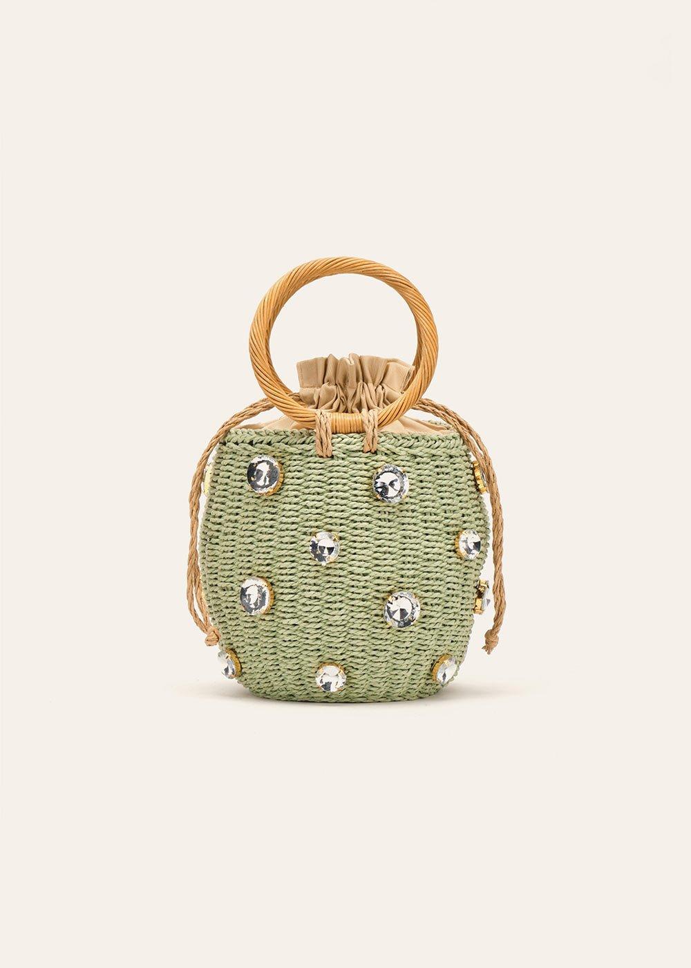 Birdie clutch bag with rhinestones - Red - Woman