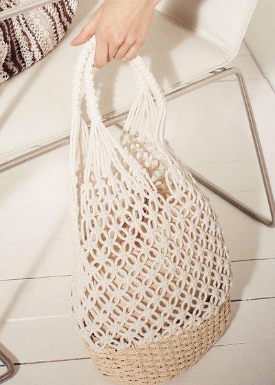 Shopping Blond in corda intrecciata