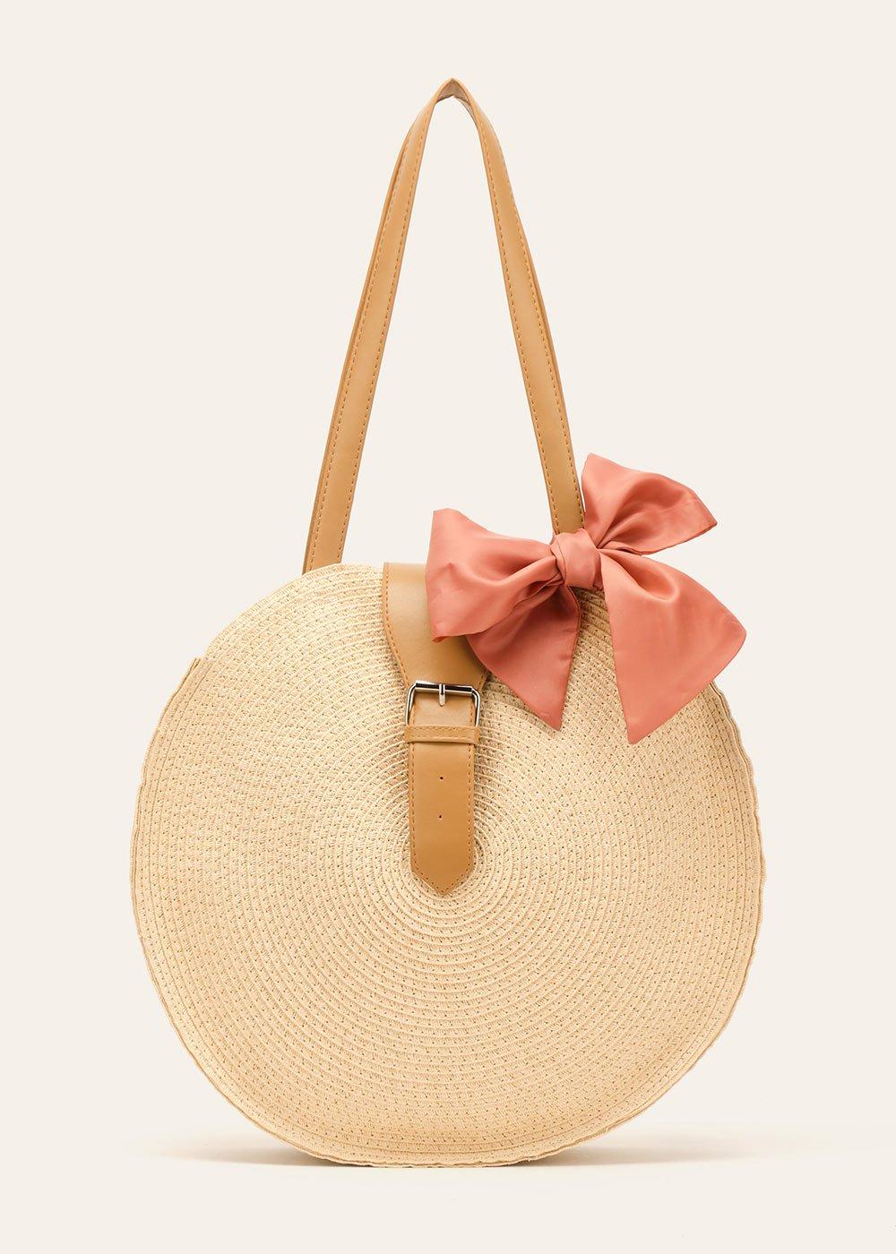 Blitsey round shopping bag - Light Beige - Woman