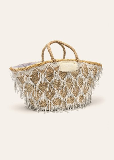 Bayer straw bag with sequins