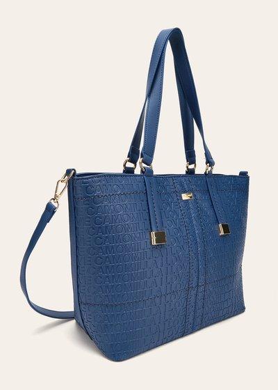 Berry logomania shopping bag