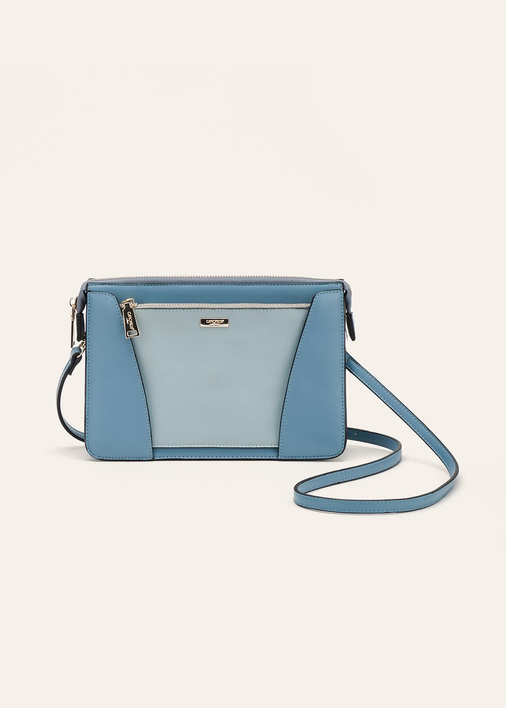 Birdy clutch bag with detachable pocket - Cielo /  Fog - Woman