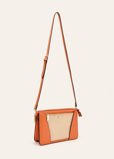 Birdy clutch bag with detachable pocket