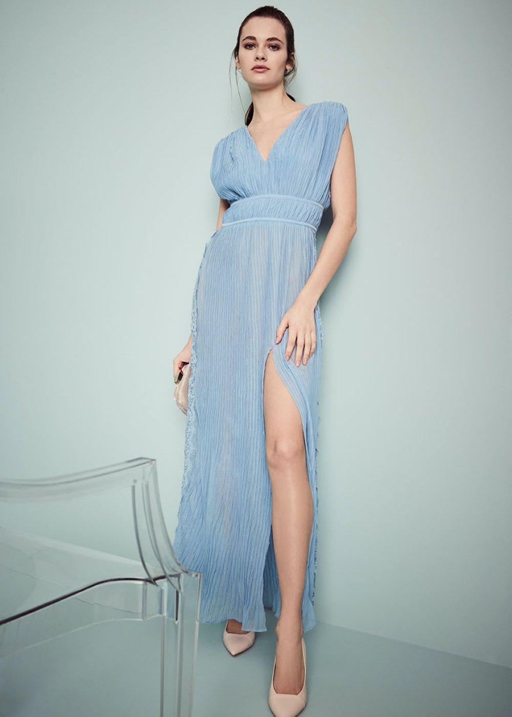 Artur empire dress - Blue sky - Woman