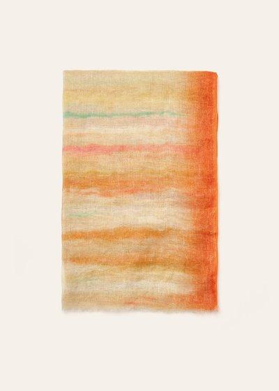 Sciarpa Sofia in lino multicolor