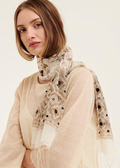Sabrina scarf with sequined hem