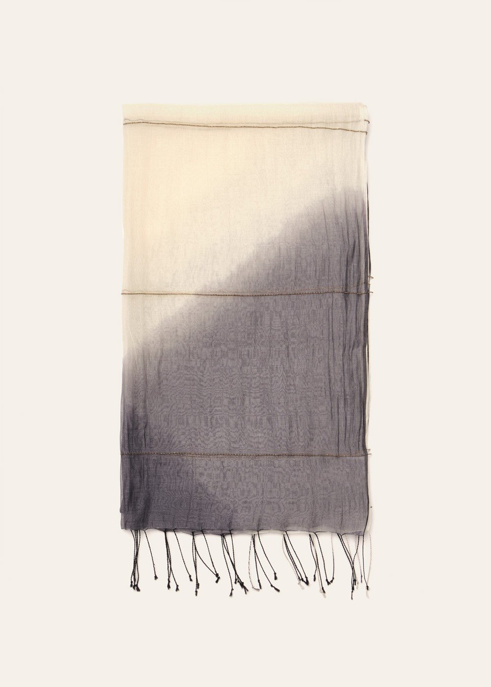 Samuela scarf with chain detail - Grey / White - Woman