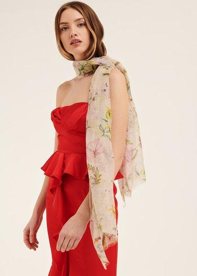 Sidney floral patterned scarf