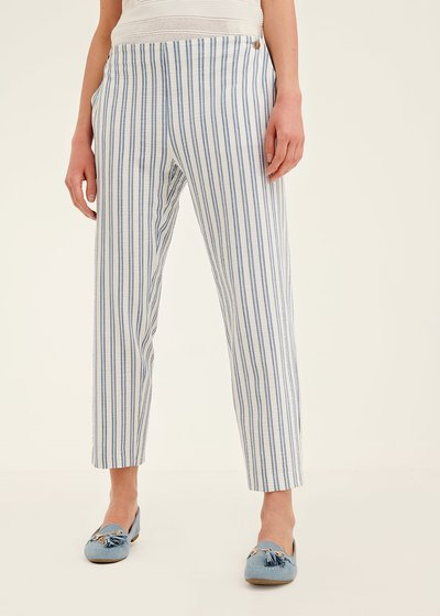 Cara trousers with vertical stripes