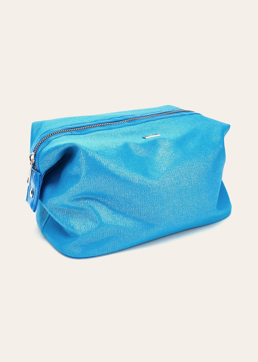 Benny laminated canvas vanity case - Turquoise - Woman