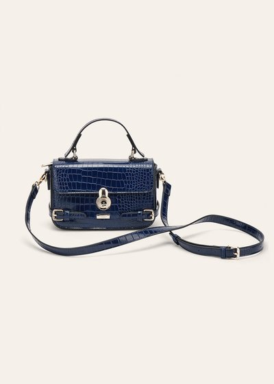 Bella crocodile-effect  shoulder bag