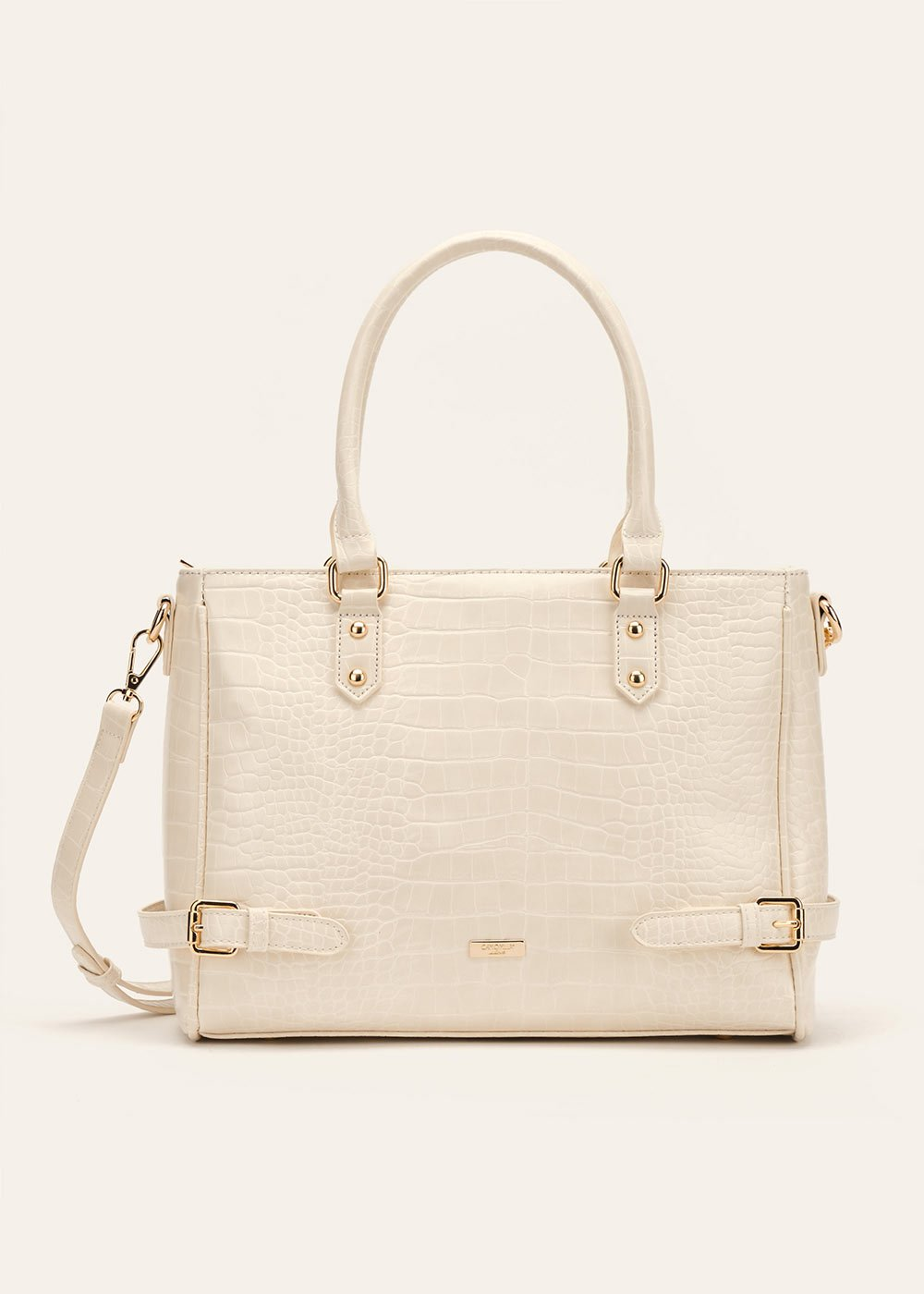 Shopping bag Bianca in cocco - Beige - Donna