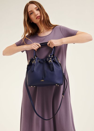 Berta bucket bag with drawstring closure