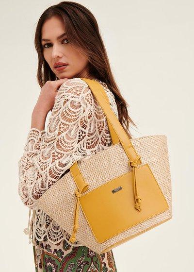 Shopping bag Bethney con tasca esterna