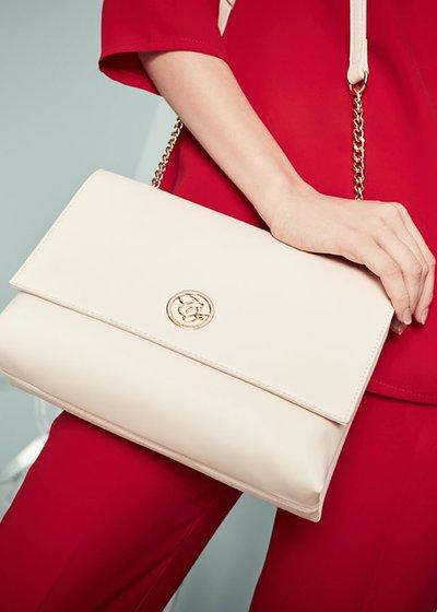 Brande faux-leather clutch bag