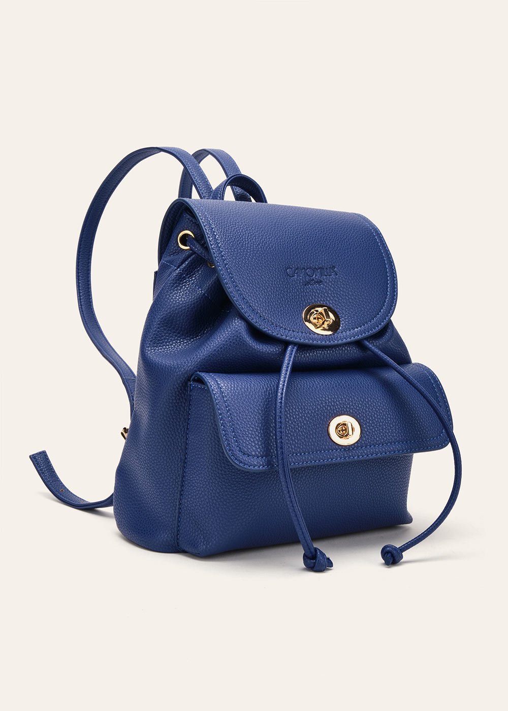 Birger backpack with front pocket - Blue - Woman