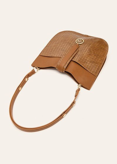 Bily unlined faux-leather sack bag