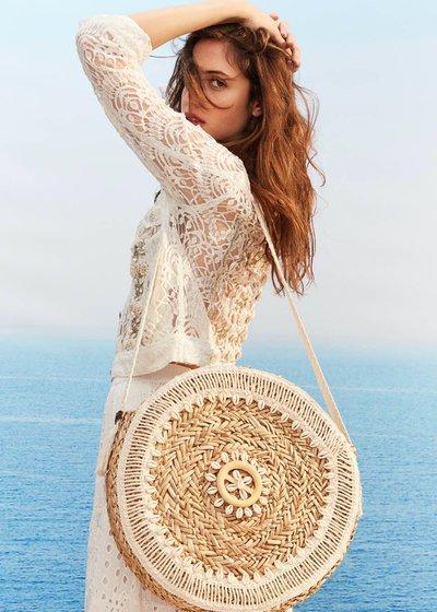 Benedicta shoulder bag with shells