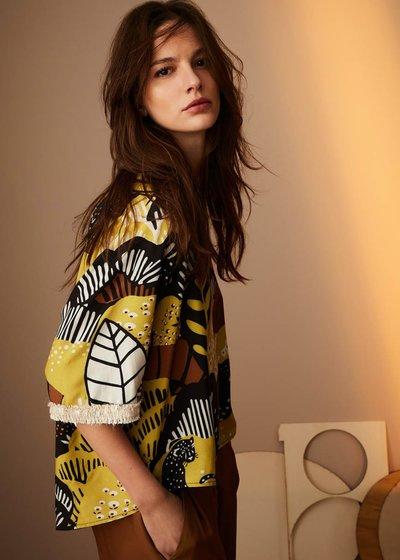 Grazia Naive print blouse