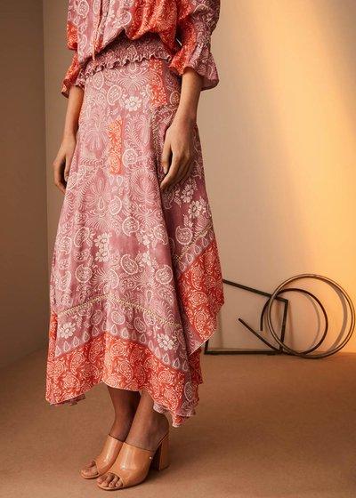 Giorgia skirt with asymmetric cut