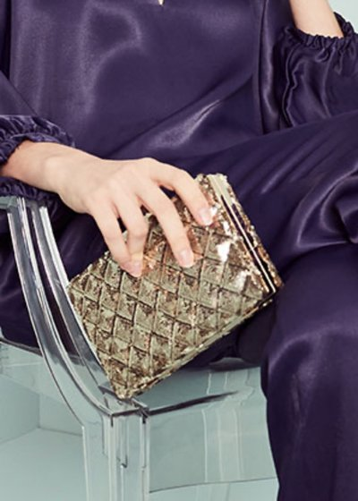 Bixy rigid clutch bag