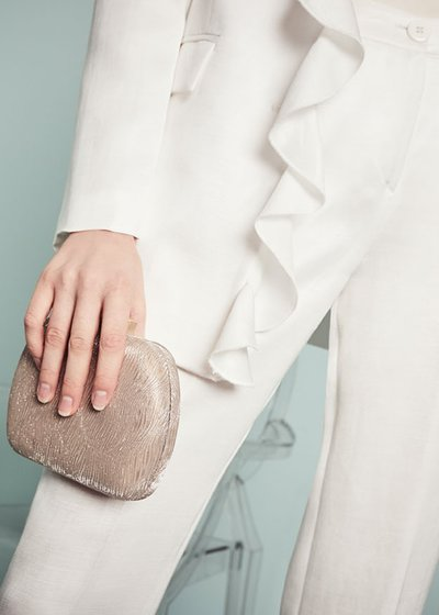 Baky rigid clutch bag
